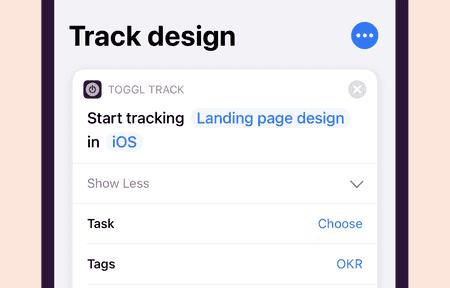 Toggl Track Siri Shortcuts